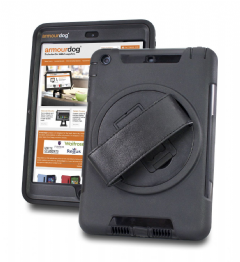 armourdog® rugged 360 grip case for the Apple iPad Mini 1/2/3 with tempered glass screen protector